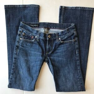 Club Monaco Dark Wash Boot Cut Stretch Jeans J91